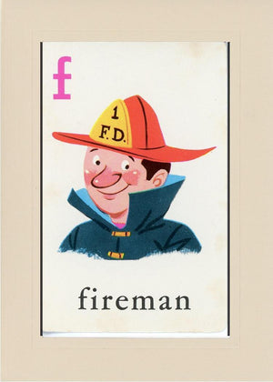 F is for Fireman - PLYMOUTH CARD COMPANY  - 31