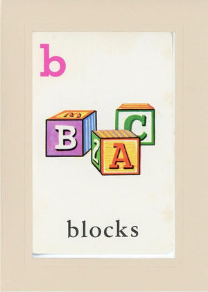 B is for blocks - PLYMOUTH CARD COMPANY  - 31