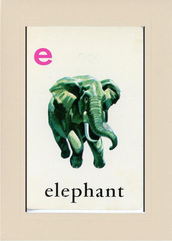 E is for Elephant - PLYMOUTH CARD COMPANY  - 32