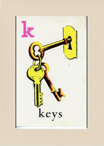 K is for Keys - PLYMOUTH CARD COMPANY  - 31