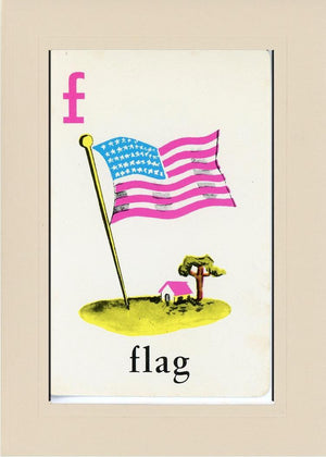 F is for Flag - PLYMOUTH CARD COMPANY  - 24