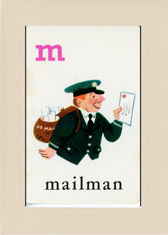 M is for Mailman - PLYMOUTH CARD COMPANY  - 31