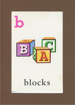 B is for blocks - PLYMOUTH CARD COMPANY  - 21