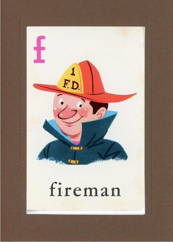 F is for Fireman - PLYMOUTH CARD COMPANY  - 22