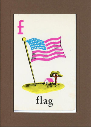 F is for Flag - PLYMOUTH CARD COMPANY  - 25