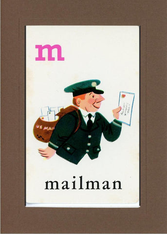 M is for Mailman - PLYMOUTH CARD COMPANY  - 21