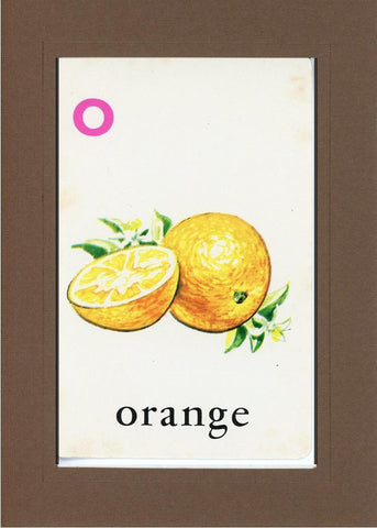 O is for Orange - PLYMOUTH CARD COMPANY  - 32