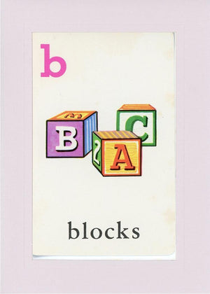 B is for blocks - PLYMOUTH CARD COMPANY  - 20