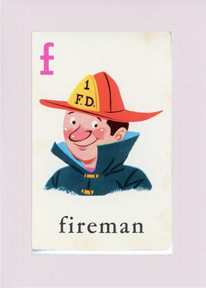 F is for Fireman - PLYMOUTH CARD COMPANY  - 21