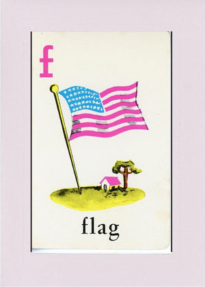 F is for Flag - PLYMOUTH CARD COMPANY  - 26