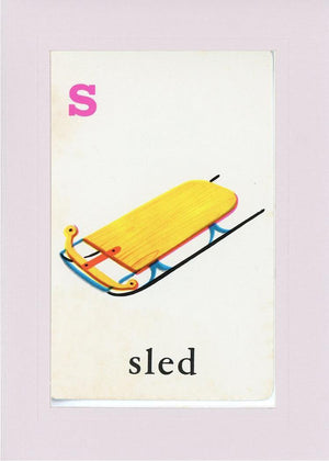 S is for Sled - PLYMOUTH CARD COMPANY  - 34