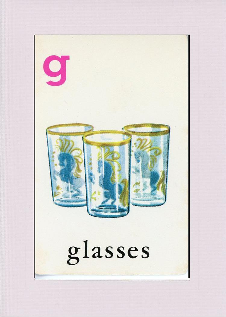 G is for Glasses-Alphabet Soup-Plymouth Cards