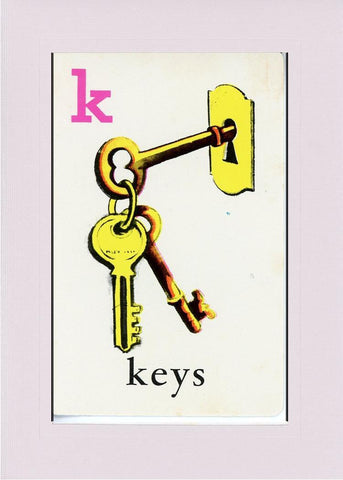 K is for Keys - PLYMOUTH CARD COMPANY  - 21