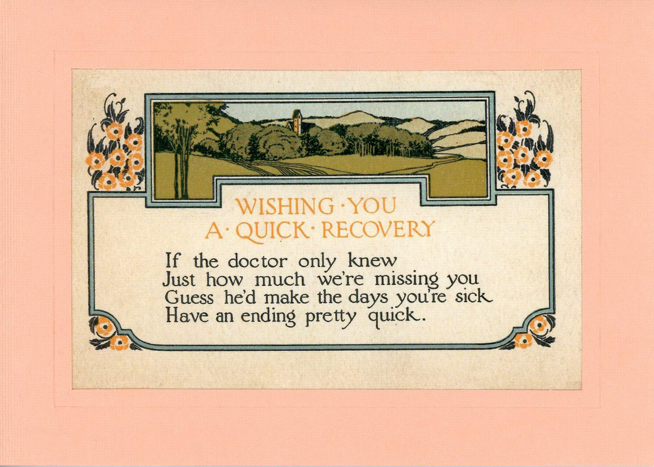 Wishing You A Quick Recovery - PLYMOUTH CARD COMPANY