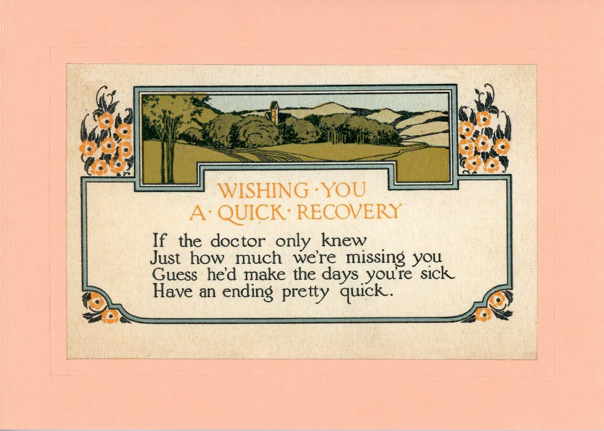Wishing You A Quick Recovery-Greetings from the Past-Plymouth Cards