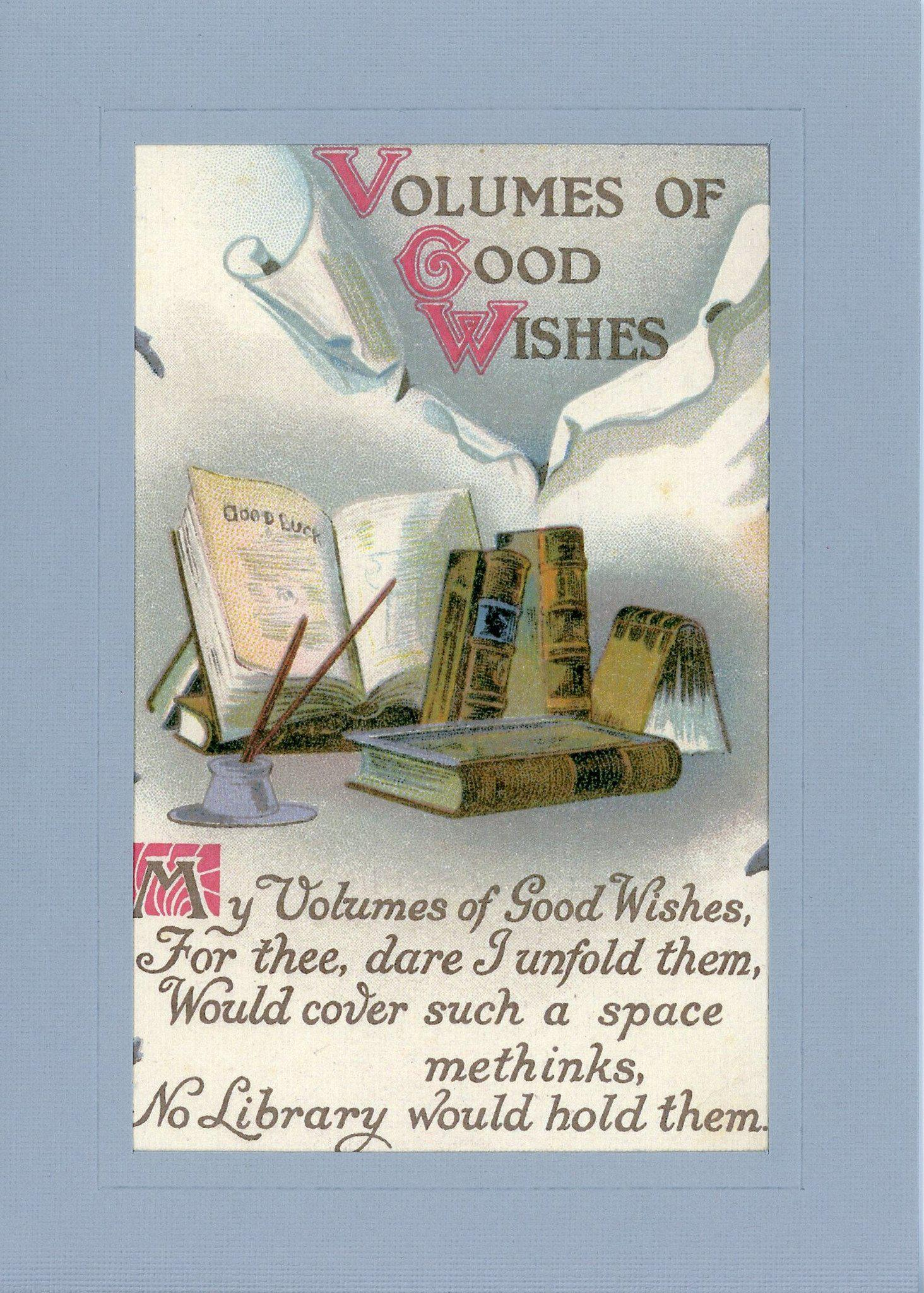 Volumes of Good Wishes-Greetings from the Past-Plymouth Cards
