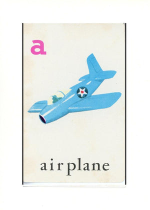A is for Airplane - PLYMOUTH CARD COMPANY  - 28