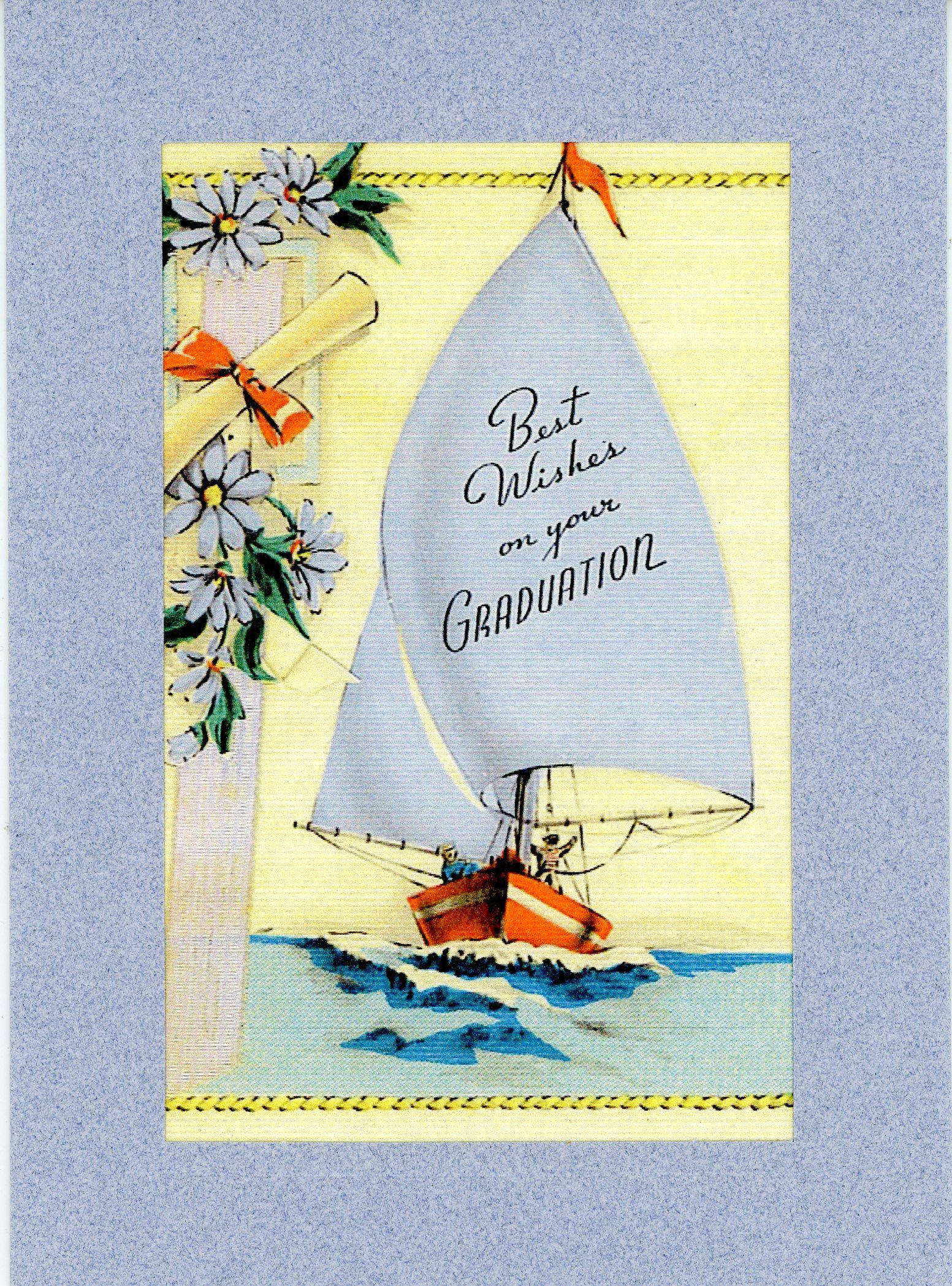 Best Wishes on Your Graduation-Greetings from the Past-Plymouth Cards