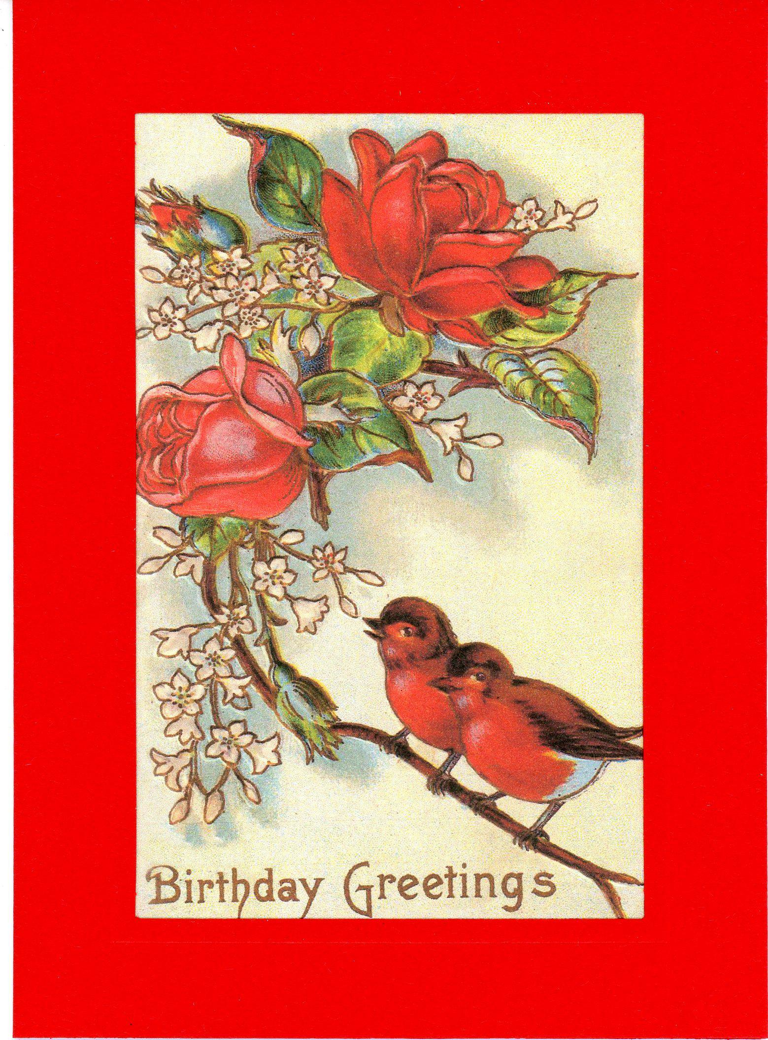 Birthday Greetings-Greetings from the Past-Plymouth Cards