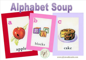 Alphabet Soup - All 26 letters - PLYMOUTH CARD COMPANY  - 1