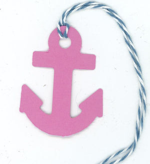 Anchor Gift Tag Plymouth Cards Pink