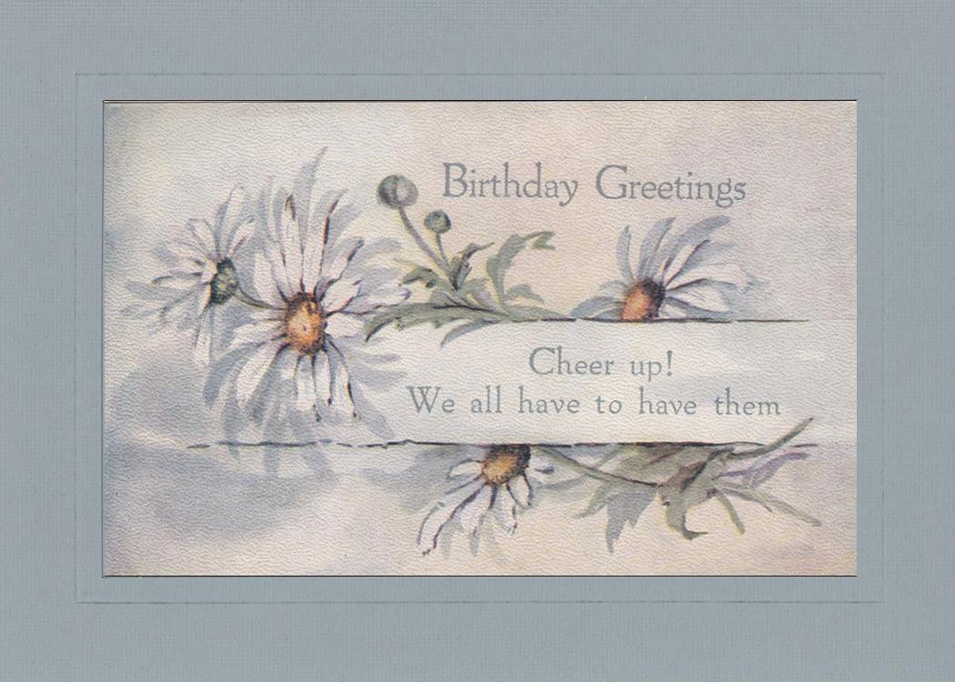 Birthday Greetings - Cheer Up!-Greetings from the Past-Plymouth Cards