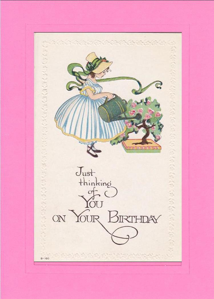 Birthday Thinking of You-Greetings from the Past-Plymouth Cards