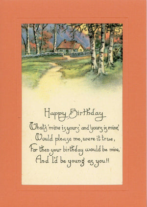 "Happy Birthday ""Young As You"" - PLYMOUTH CARD COMPANY"