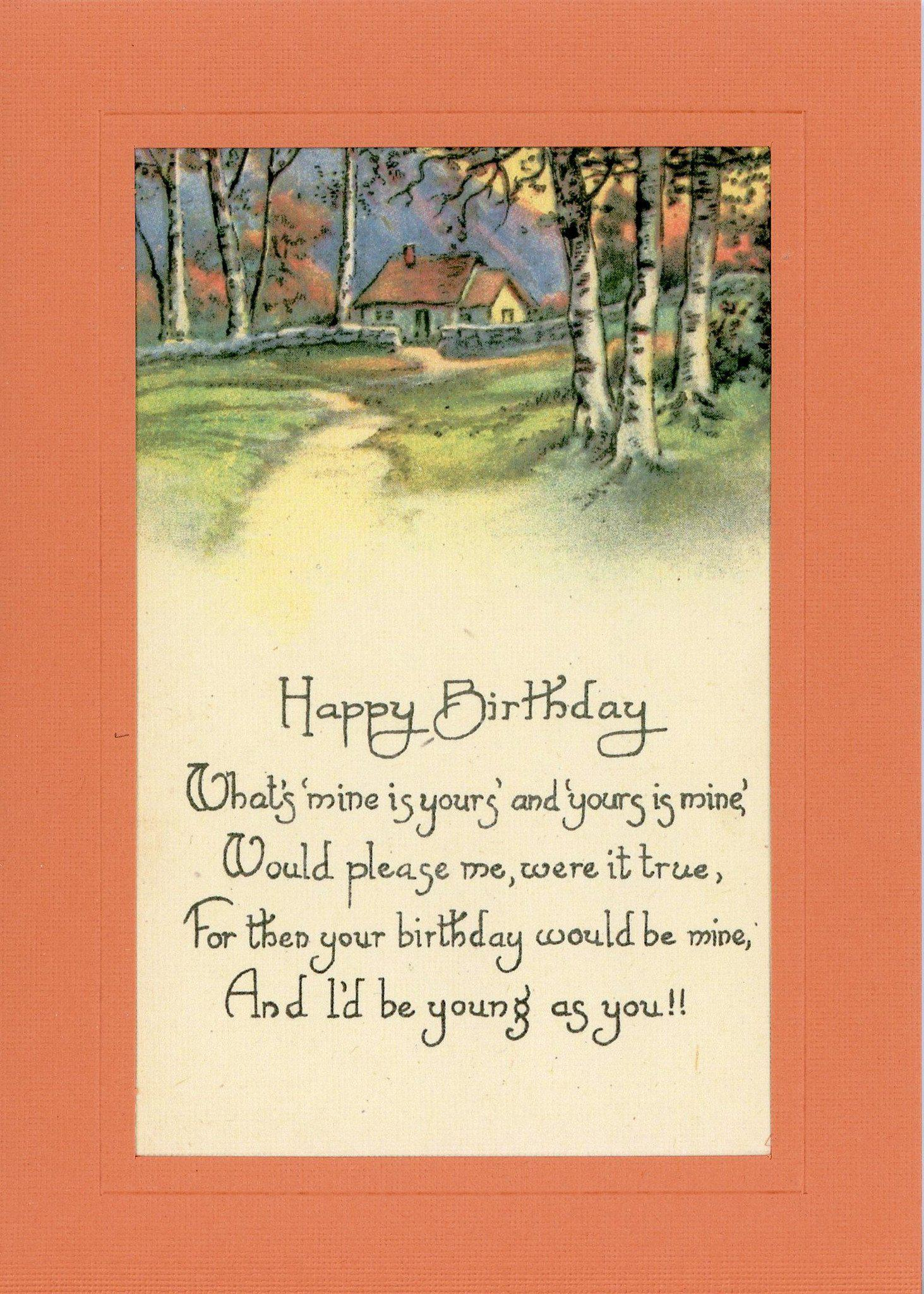 "Happy Birthday ""Young As You""-Greetings from the Past-Plymouth Cards"