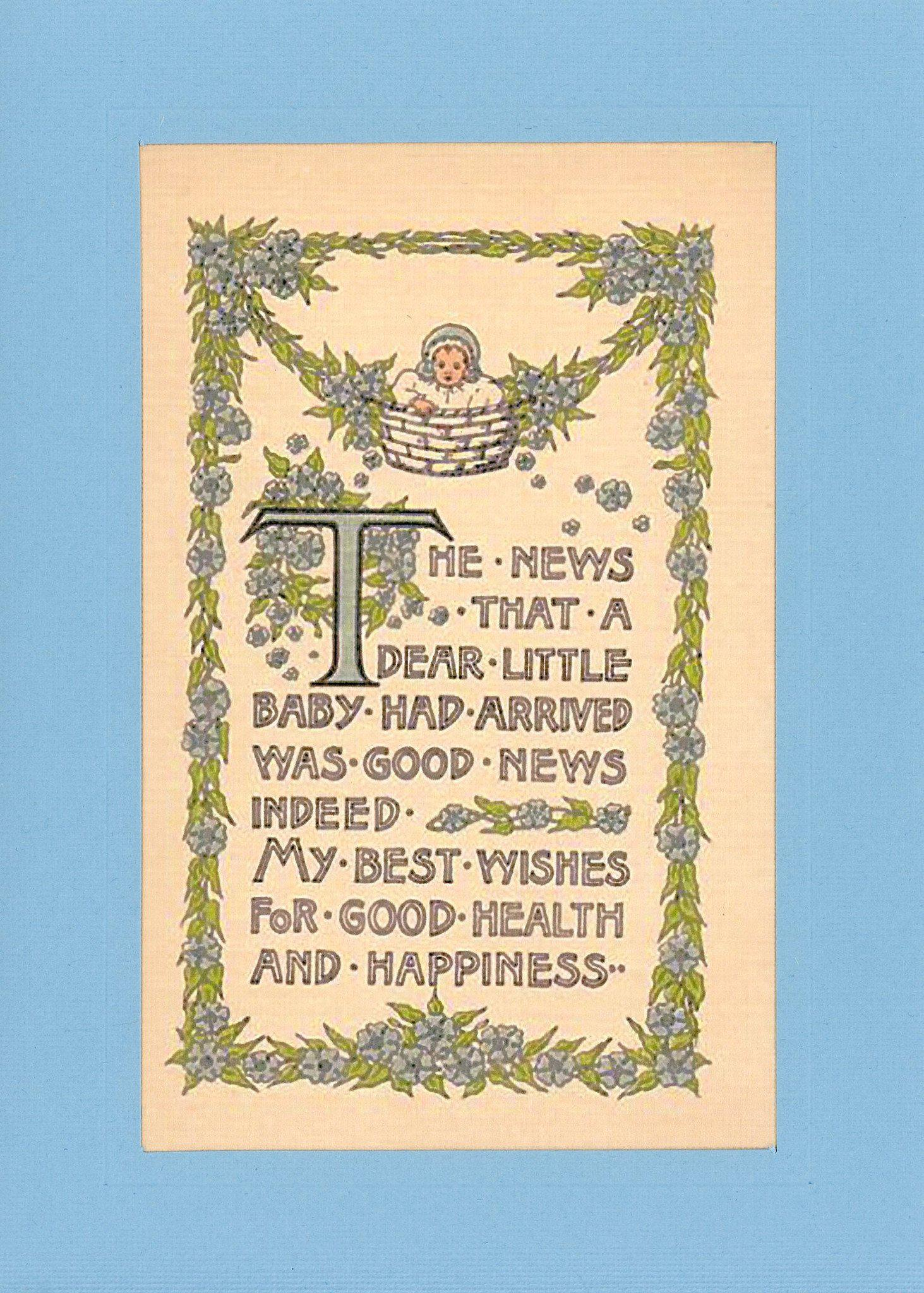 New Baby Congratulations (Boy or Girl)-Greetings from the Past-Plymouth Cards