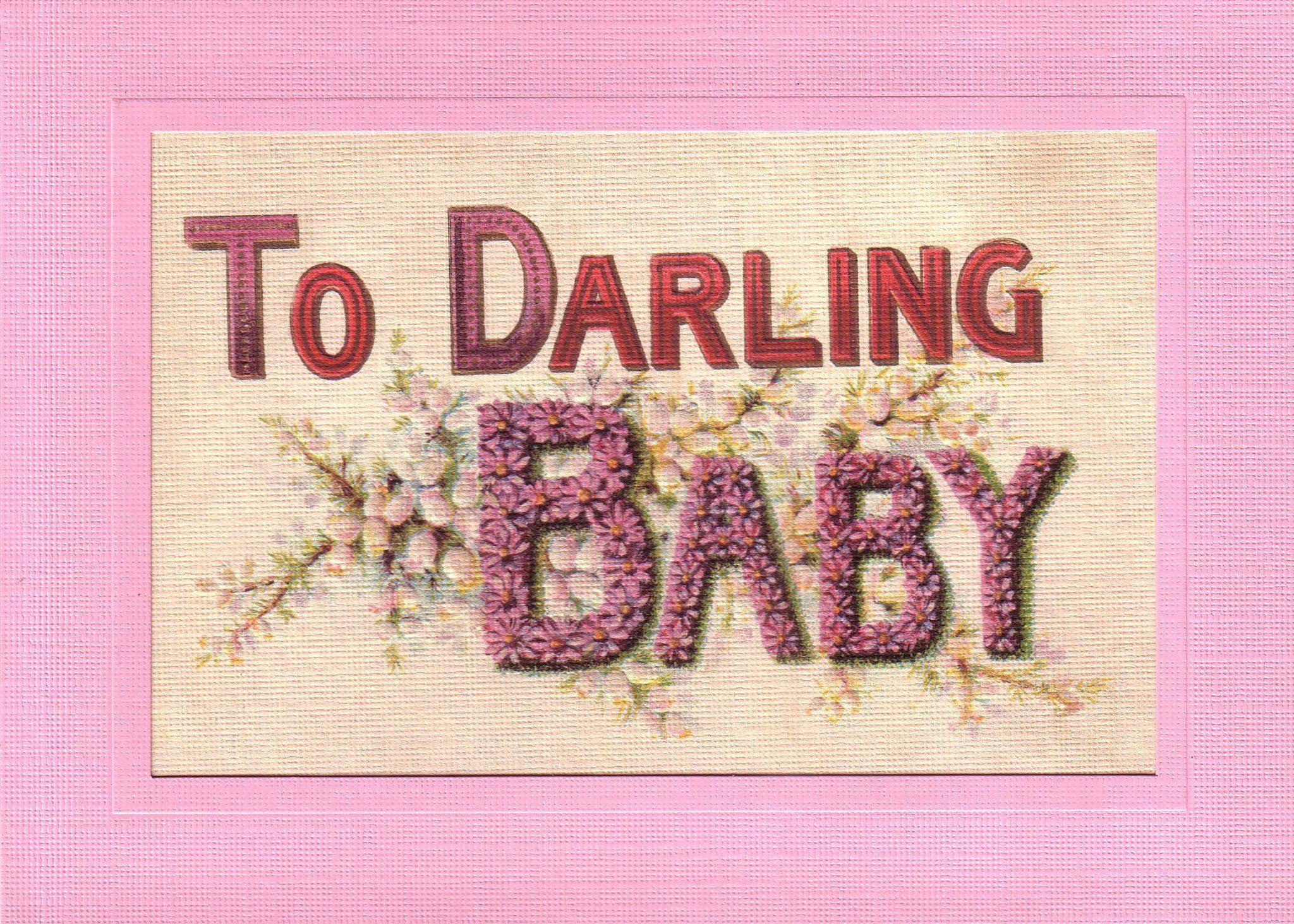 Darling Baby Girl-Greetings from the Past-Plymouth Cards