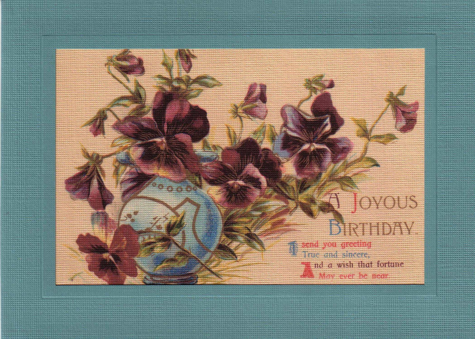 Joyous Birthday-Greetings from the Past-Plymouth Cards
