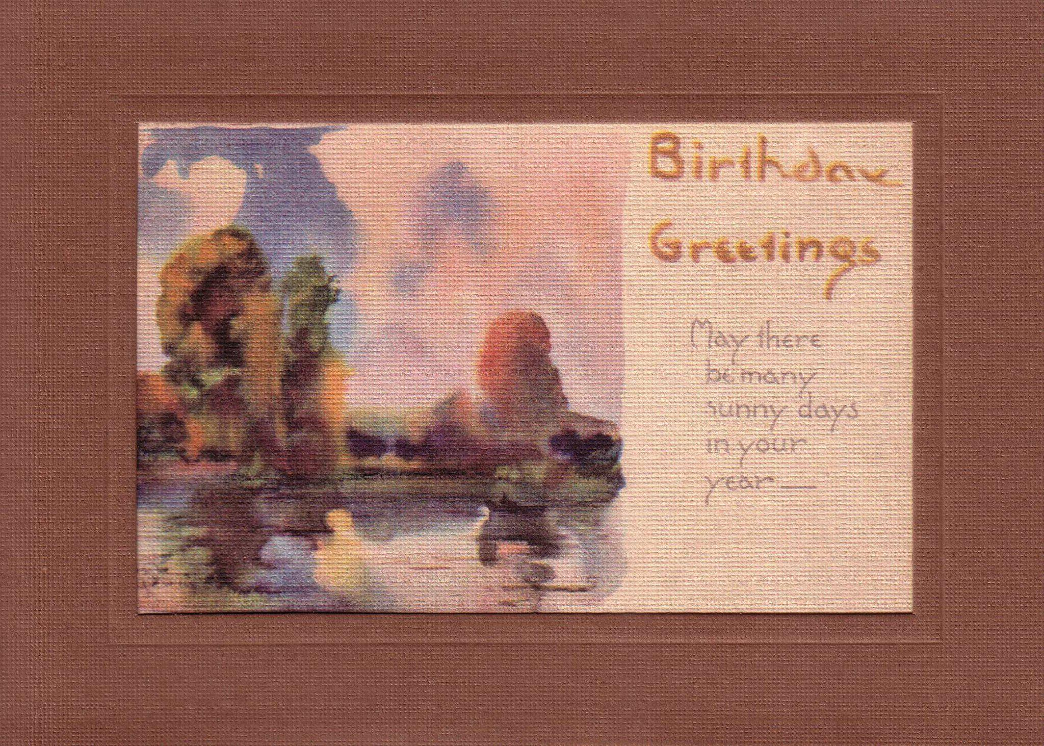 Birthday Greetings Watercolor-Greetings from the Past-Plymouth Cards