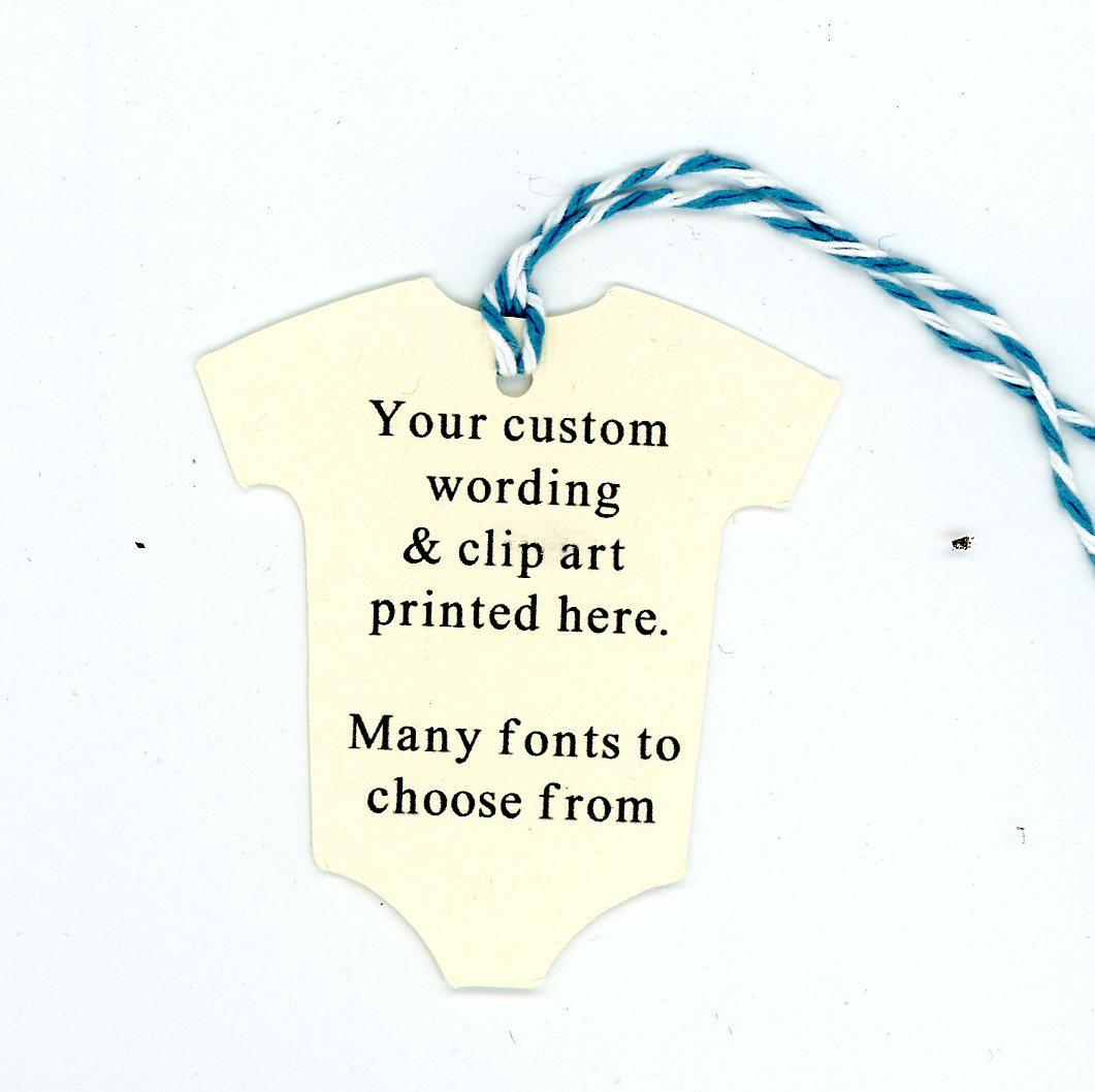 Baby Onesie - Custom-Gift Tags-Plymouth Cards