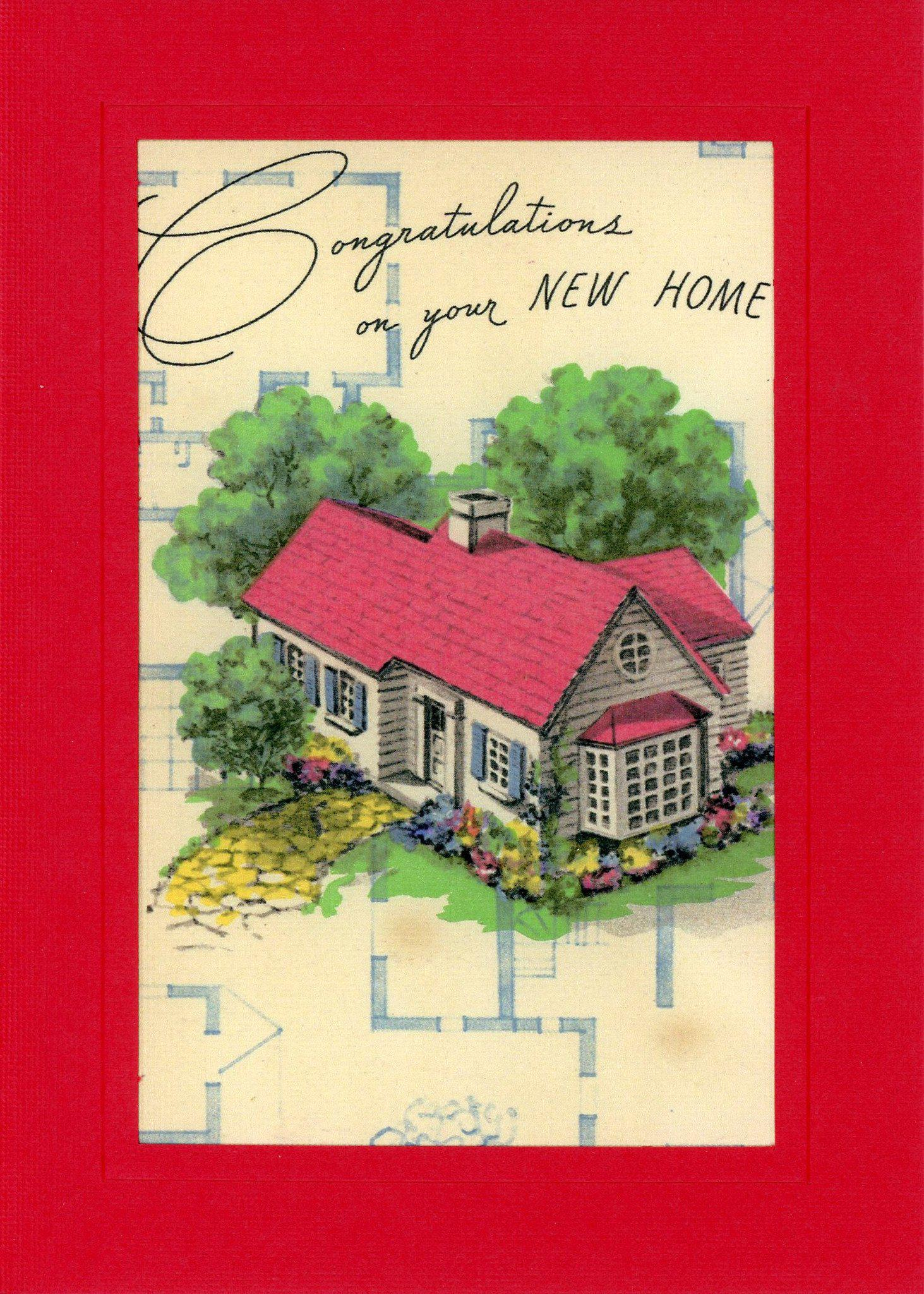 New Home Congratulations-Greetings from the Past-Plymouth Cards