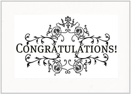 Congratulations - PLYMOUTH CARD COMPANY