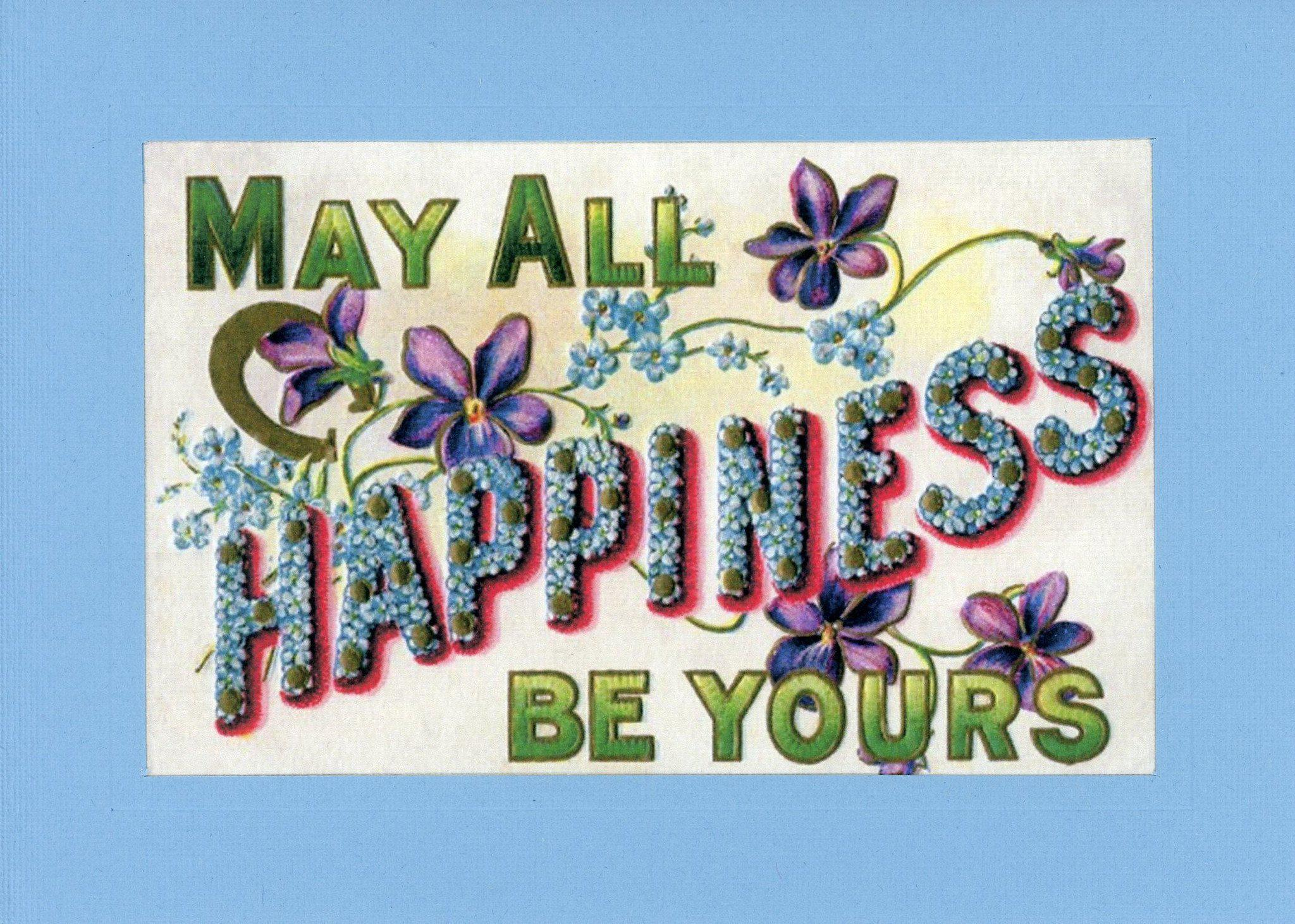 Happiness Be Yours-Greetings from the Past-Plymouth Cards