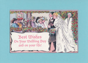 Best Wishes on Your Wedding Day and on Your Life-Greetings from the Past-Plymouth Cards