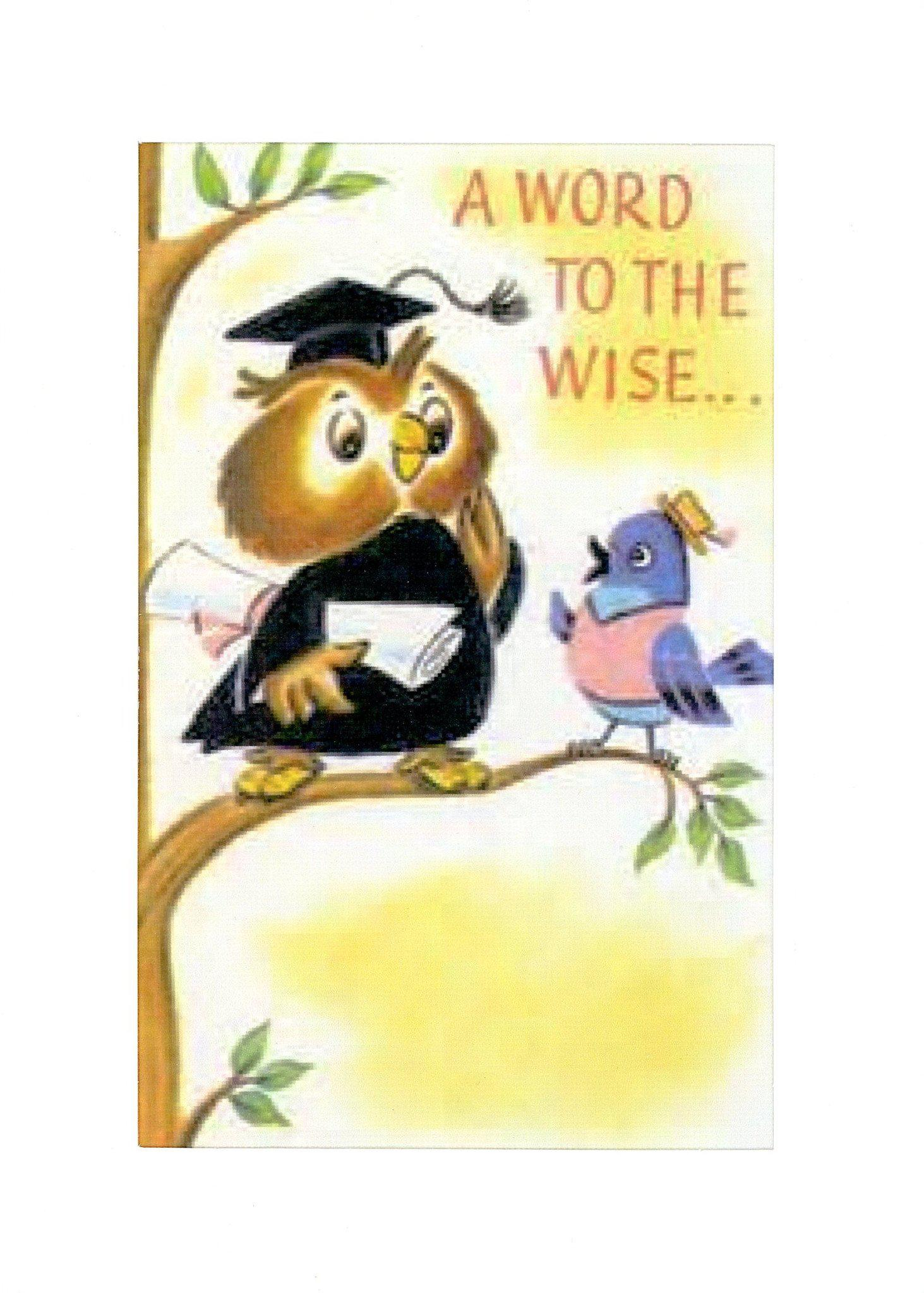 A Word to the Wise-Greetings from the Past-Plymouth Cards