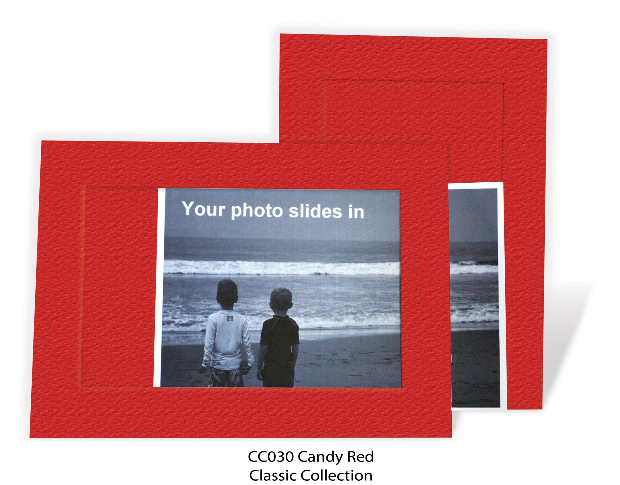 Candy Red #CC030-Photo note cards-Plymouth Cards