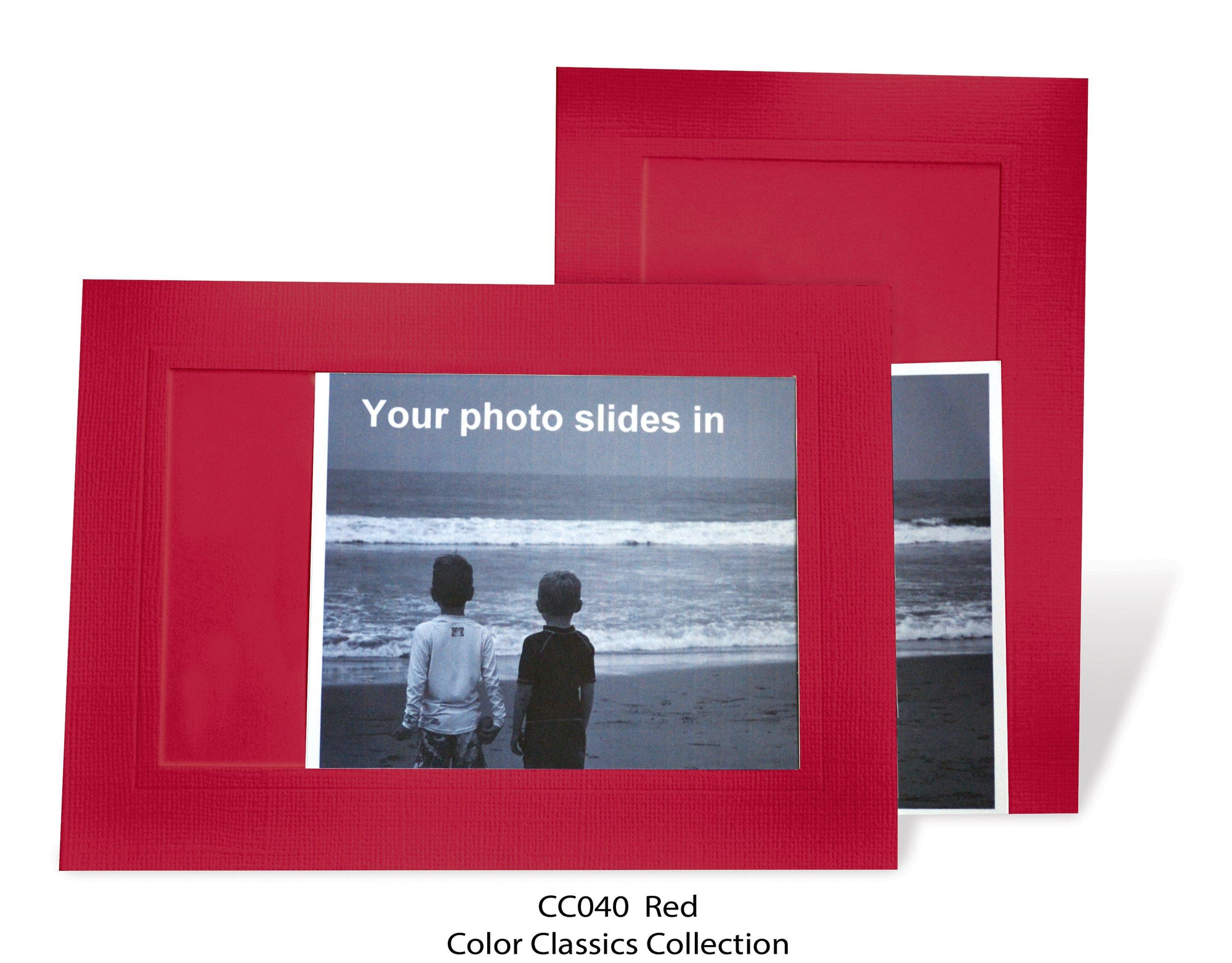 Red #CC040-Photo note cards-Plymouth Cards