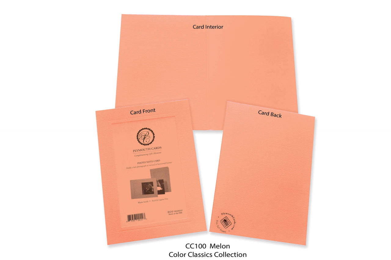 Melon Photo Insert Note Cards - Color Classics collection (color #CC100)