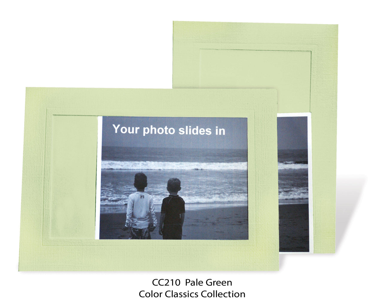 Pale Green Photo Insert Note Cards - Color Classics collection (color #CC210)