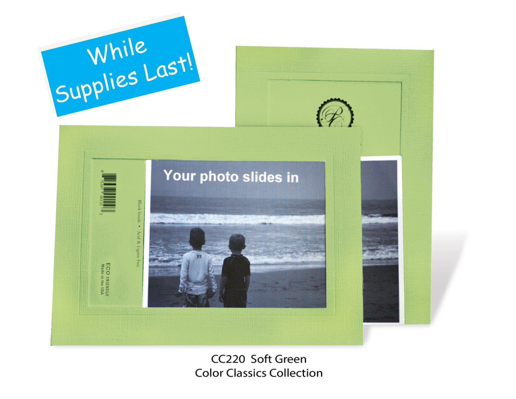 Soft Green #CC220-Photo note cards-Plymouth Cards
