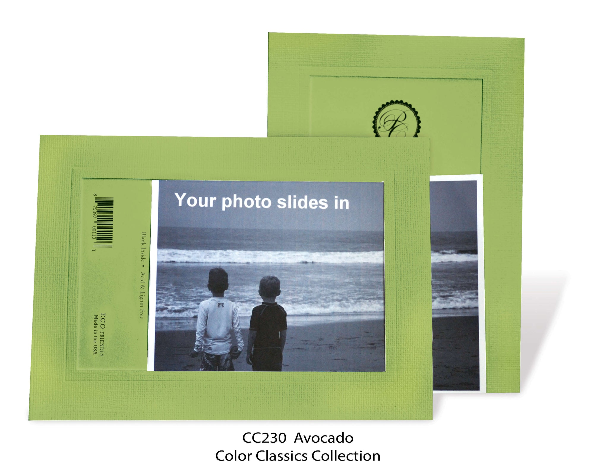 Avocado #CC230-Photo note cards-Plymouth Cards