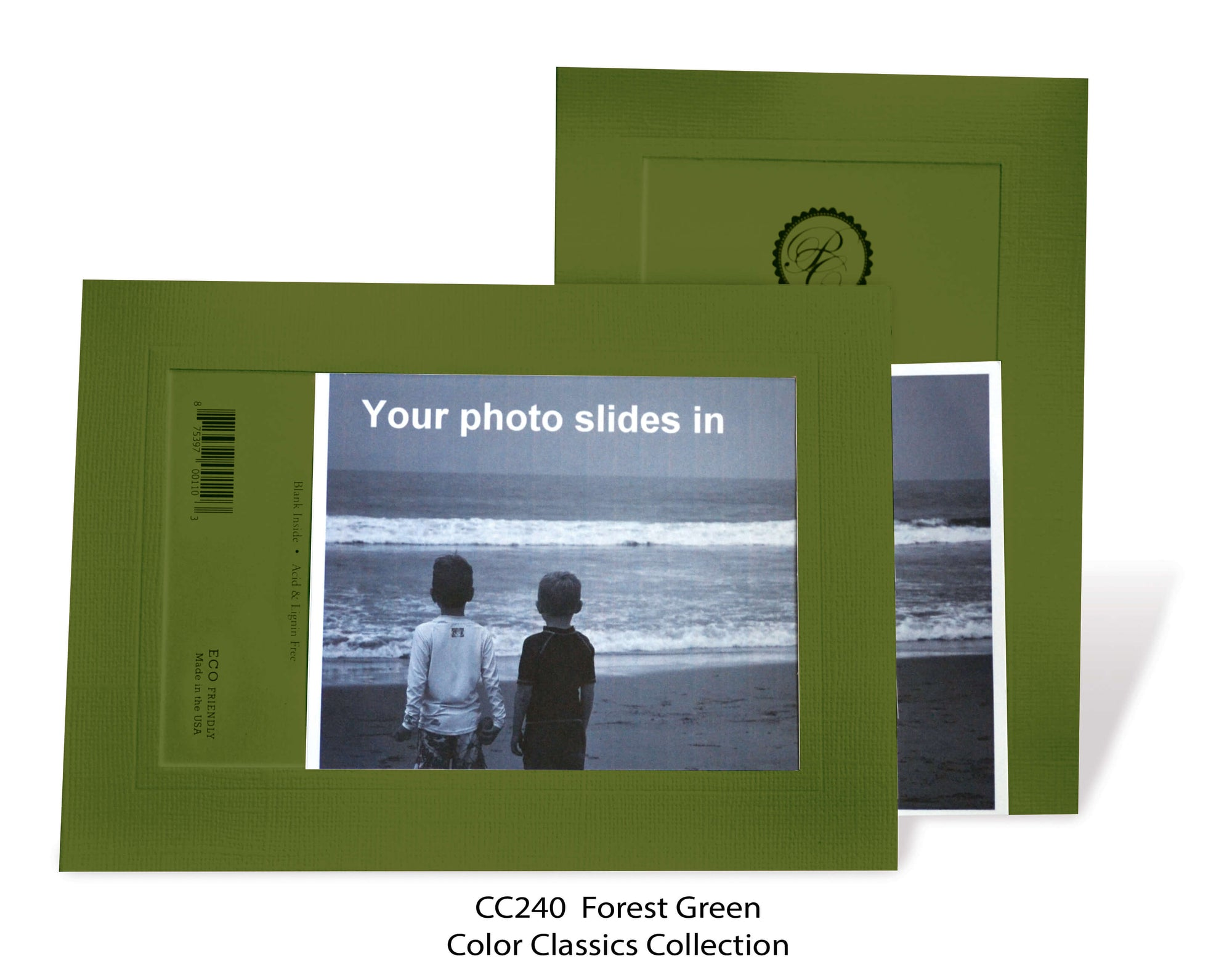 Forest Green #CC240-Photo note cards-Plymouth Cards