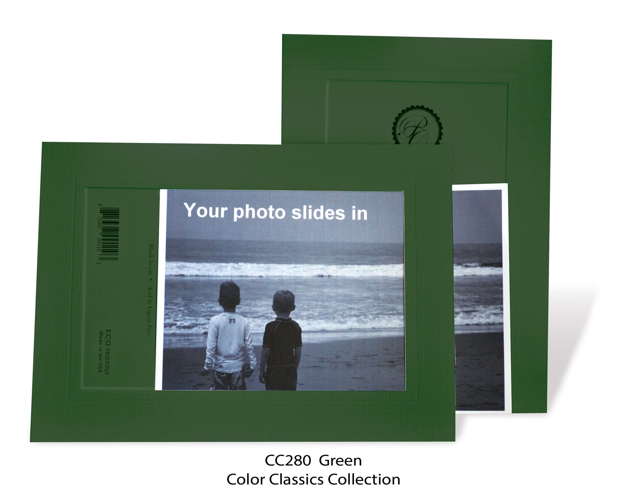 Green #CC280-Photo note cards-Plymouth Cards