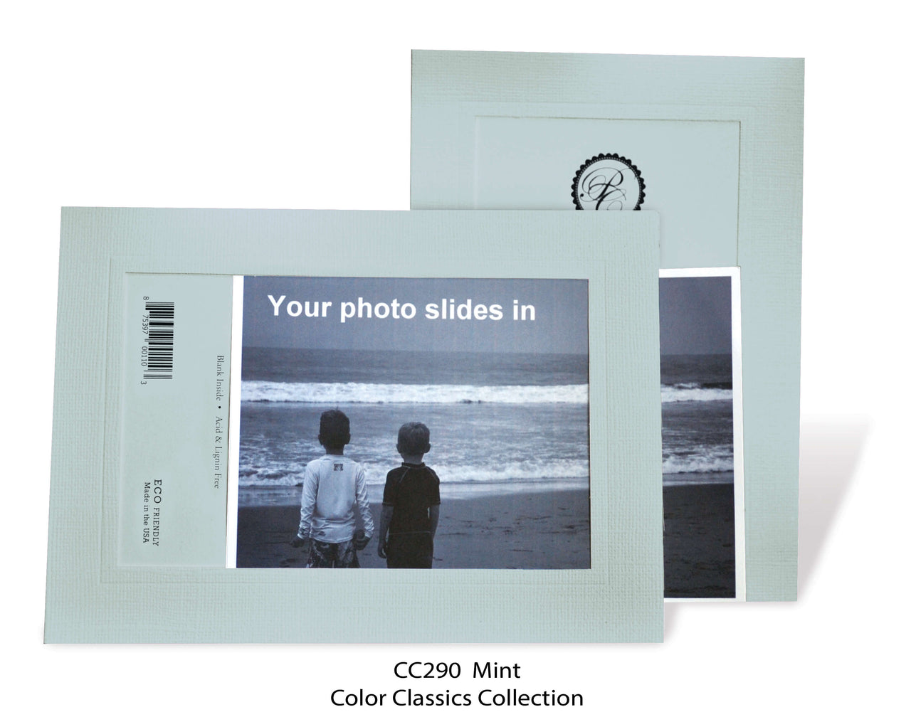 Mint Photo Insert Note Cards - Color Classics collection (color #CC290)