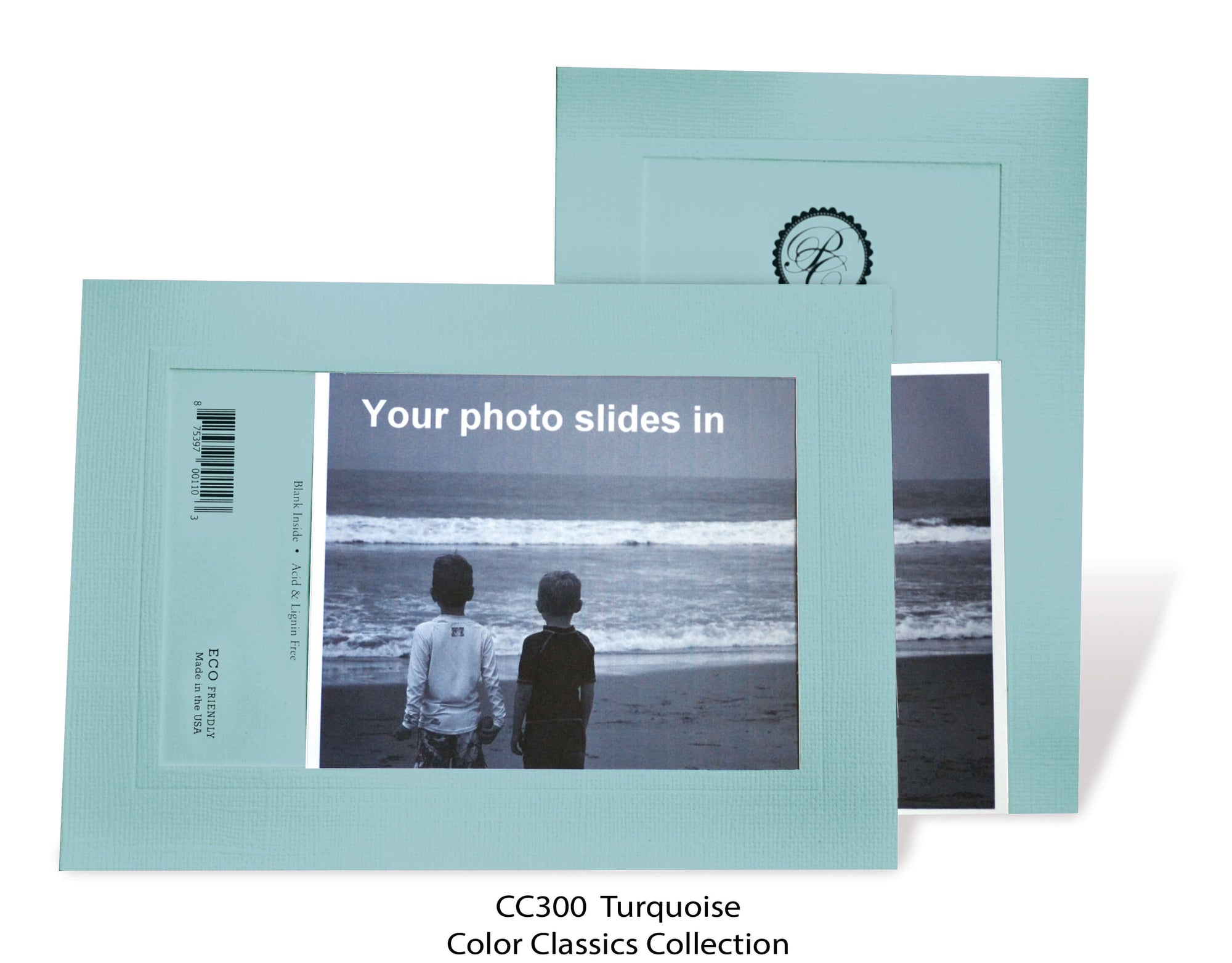 Turquoise #CC300-Photo note cards-Plymouth Cards