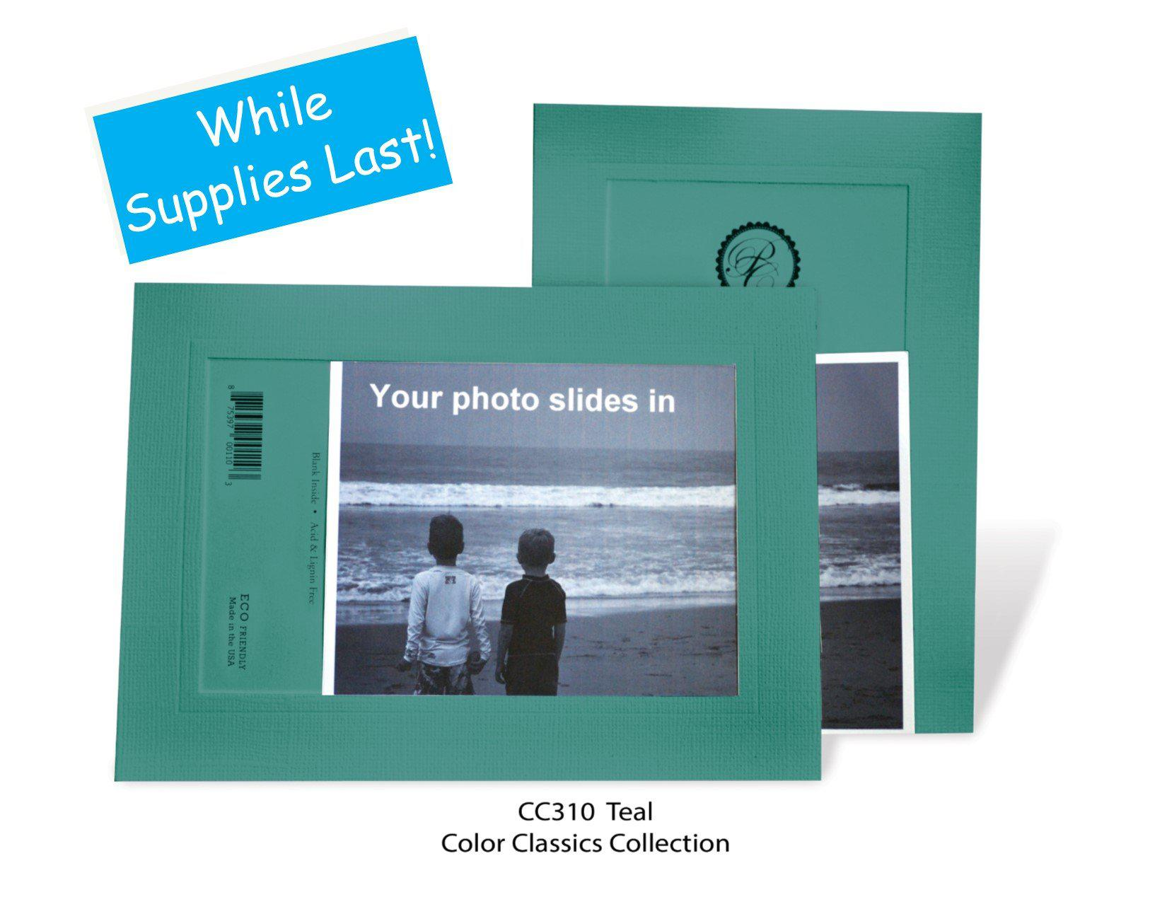 Teal #CC310-Photo note cards-Plymouth Cards